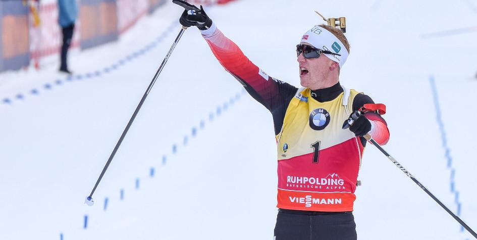 Биатлонист Йоханнес Бё одержал девятую победу в сезоне Кубка мира