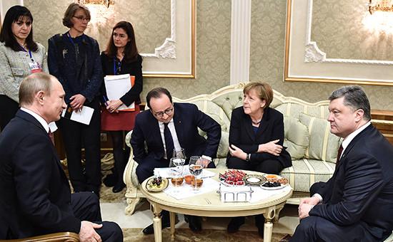 Встреча лидеров «нормандской четверки»  в Минске. 11 февраля 2015 года
