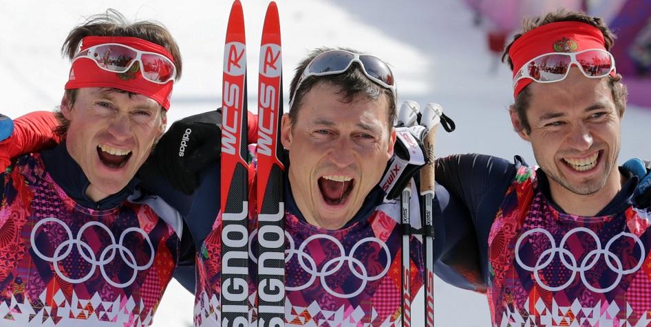 Илья Черноусов (справа) на Олимпиаде в Сочи
