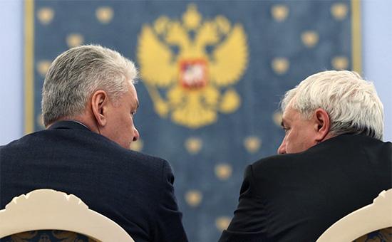 Мэр Москвы Сергей Собянин и губернатор Санкт-Петербурга Георгий Полтавченко (слева направо)