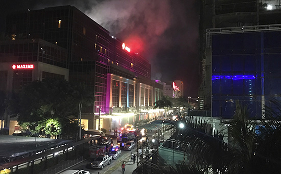 Комплекс Resorts World Manila после взрывов и стрельбы