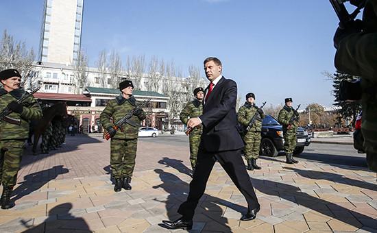Инаугурация нового главы Донецкой народной республики Александра Захарченко