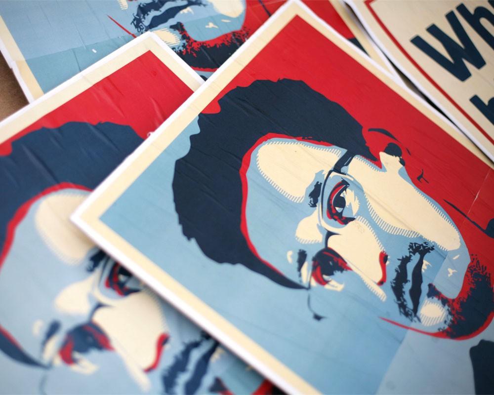 Плакаты с изображением Эдварда Сноудена