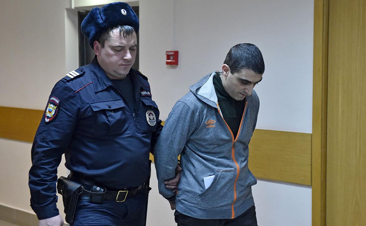 Сергей Хачатуров во время рассмотрения дела в Дорогомиловском суде