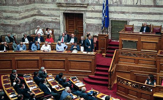 Заседание парламента Греции