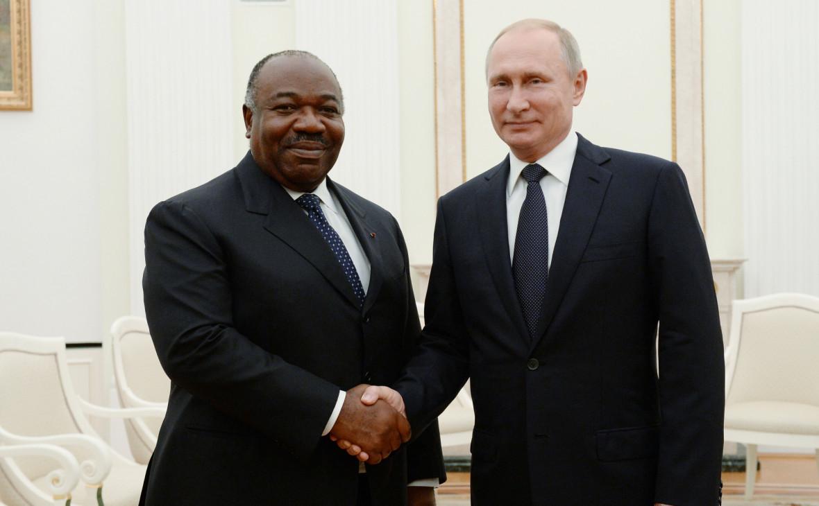Президент ГабонаАли бен Бонго Ондимбана встрече с президентом России Владимиром Путиным