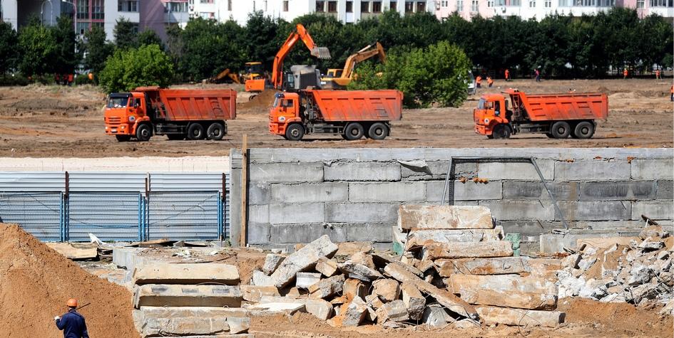 Строительство парка на Ходынском поле в Москве