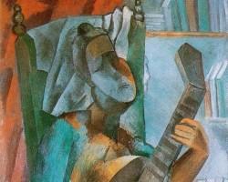 Фото:Пикассо. Женщина с мандолиной/Эрмитаж
