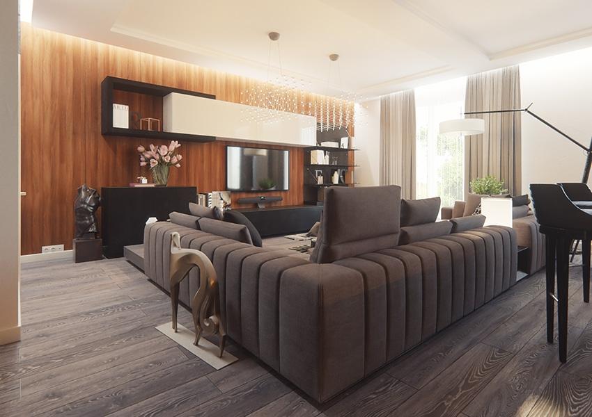 b953ce9d1341 В России интерьеры в минималистичном стиле — с минимумом мебели, предметов  декора и четким функциональным зонированием — вошли в моду в конце  девяностых ...
