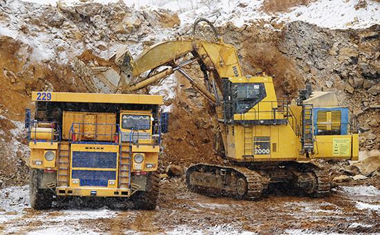 Добыча золота на одном из предприятий «Полюса»