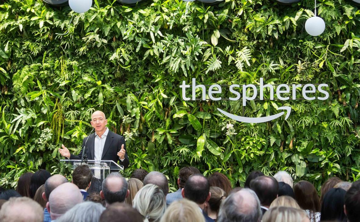 Джефф Безос на торжественном открытии штаб-квартиры Amazon Spheres в Сиэтле,Вашингтон, США