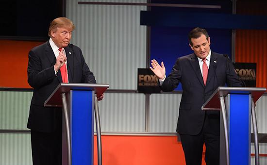Кандидаты от Республиканской партии СШАДональд Трамп(слева) иТедКруз