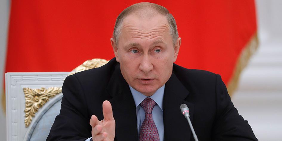 Президент РФ Владимир Путин во время заседания Координационного совета по реализации Национальной стратегии действий в интересах детей