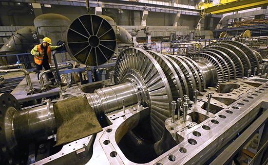 Строительство энергоблоков на атомной электростанции