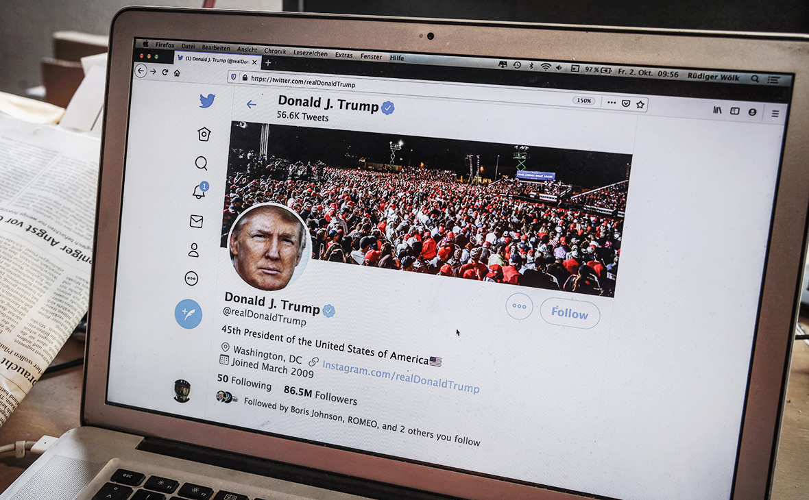 Twitter начнет удалять пожелания Трампу смерти от коронавируса