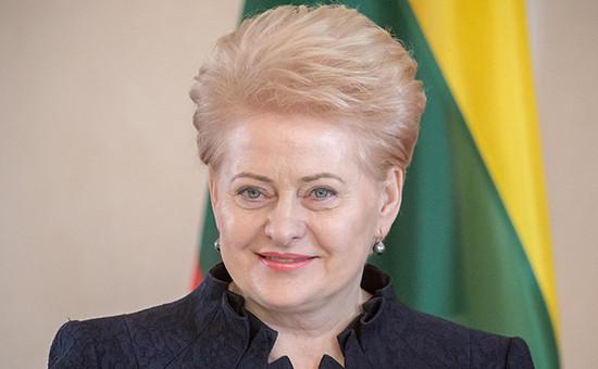 Глава ЛитвыДаля Грибаускайте
