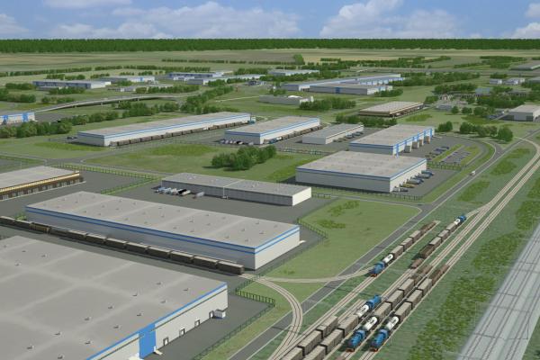 Промышленно-логистический паркНовосибирской области недалеко от аэропорта Толмачево.