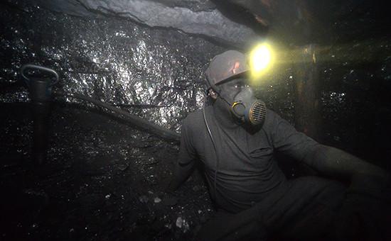 В угольной шахте в Донбассе