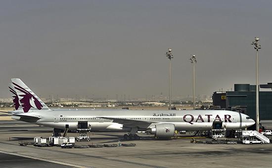 Boeing 777-200LR авиакомпании Qatar Airways