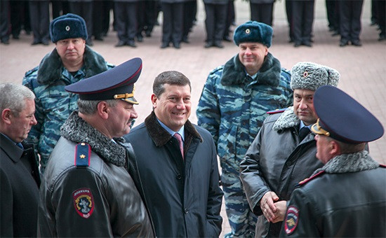 Бывший глава Нижнего Новгорода Олег Сорокин (в центре)