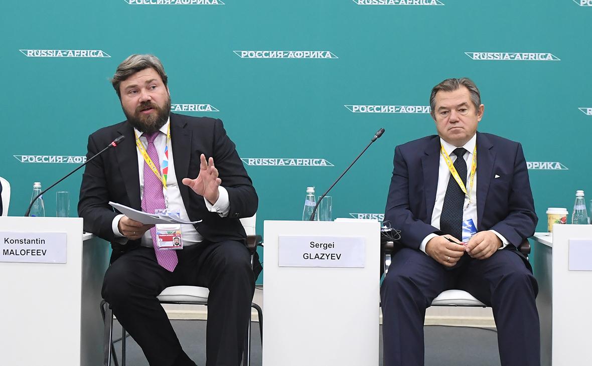 Константин Малофеев и Сергей Глазьев