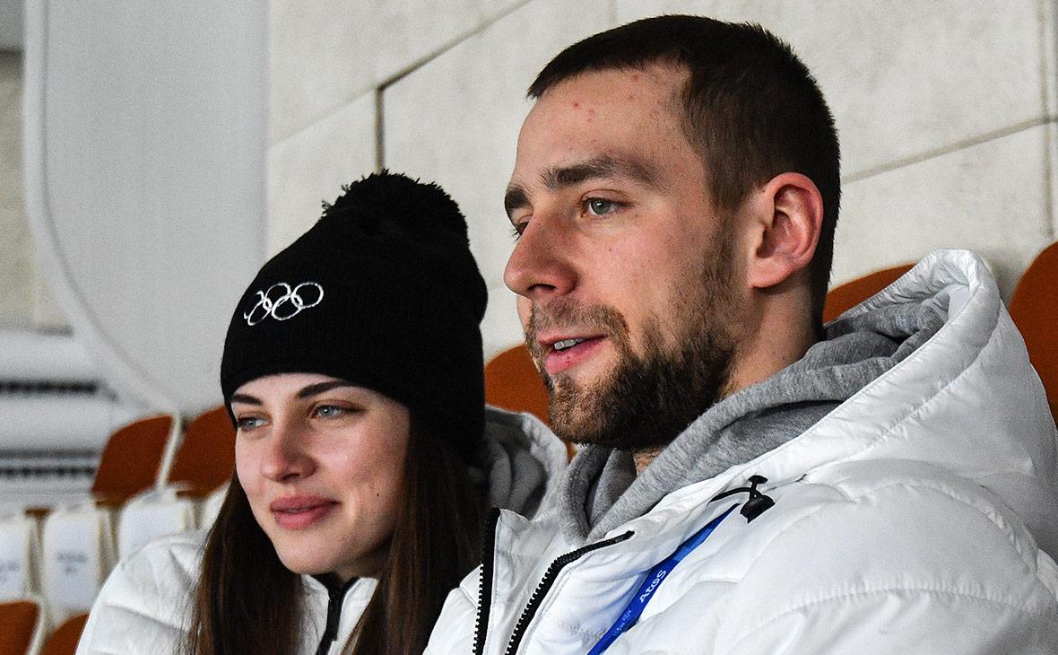 Спортсменка Анастасия Брызгалова и Александр Крушельницкий