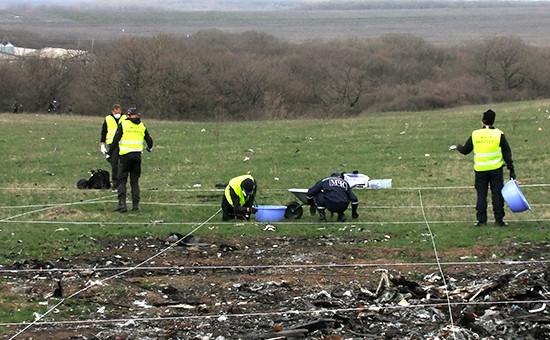 Эксперты изНидерландов иМалайзии работают наместе крушения малайзийского самолета Boeing вДонецкой области. Архивное фото