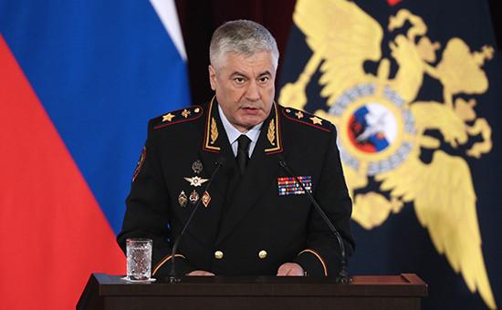 Глава МВД Владимир Колокольцев