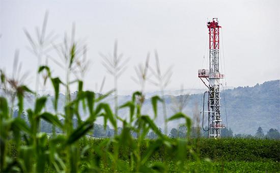 Буровая установка длядобычи сланцевого газа, Пенсильвания, США