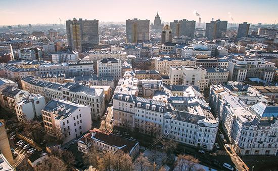 Вид на Мерзляковский переулок и Новый Арбат