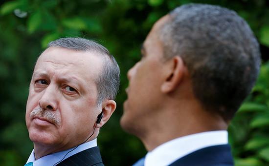 Президент Турции Реджеп Тайип Эрдоган ипрезидент США Барак Обама. Архивный кадр