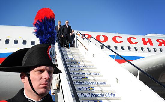Президент России Владимир Путин во время визита в Италию в 2013 г.