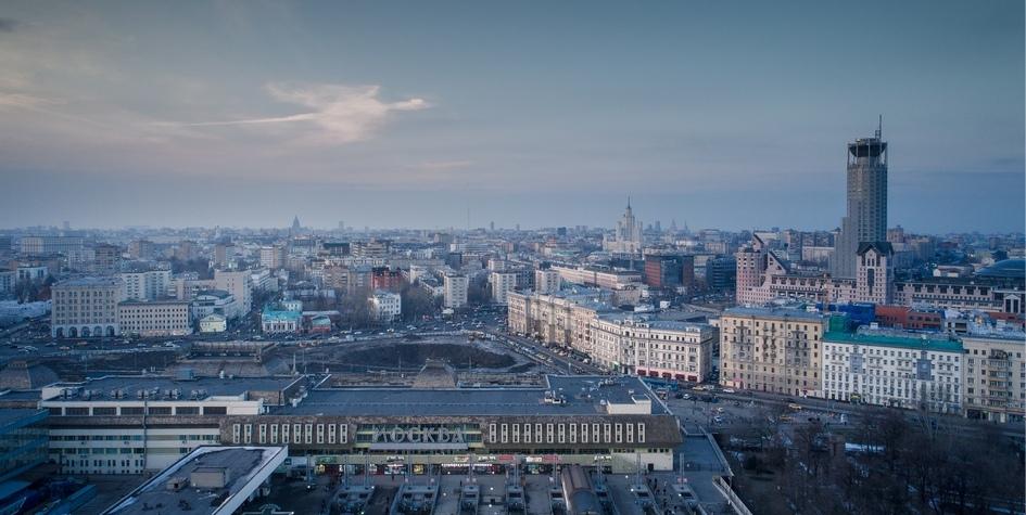Вид на территорию Павелецкого вокзала