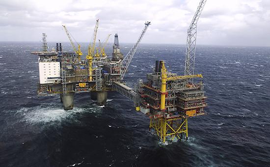 Нефтяная платформа Oseberg вНорвежском море