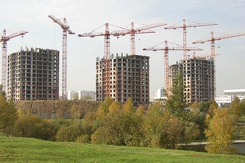 Фото:Сокращение объемов строительства в Москве — последствия финансового кризиса
