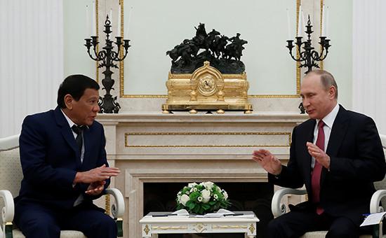 Родриго Дутерте и Владимир Путин