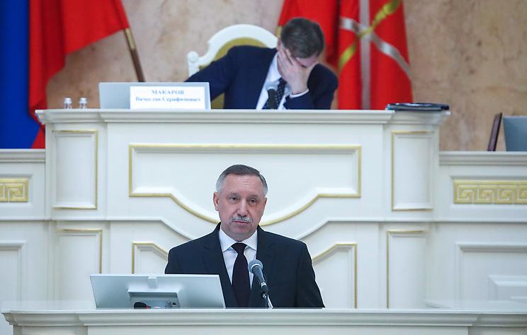 Врио губернатора Петербурга Александр Беглов в Законодательном собрании города