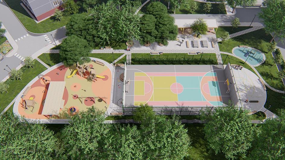 Проект благоустройства двора от архитектурного бюро «Практика»