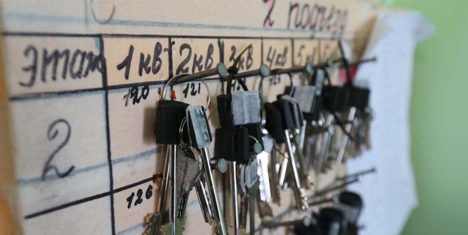 Ключи от квартир первого дома, готового к заселению по программе реновации