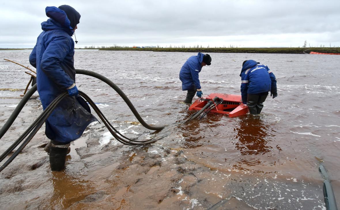 Ликвидация последствий разлива топлива в Норильске