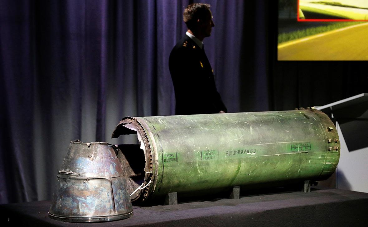 Обломки ракеты, которой сбилиBoeing под Донецком