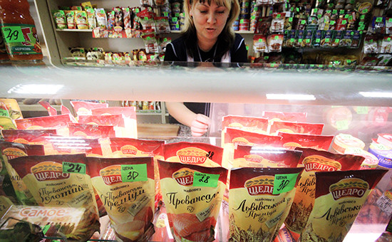 Майонез украинского производства в одном из магазинов Евпатории