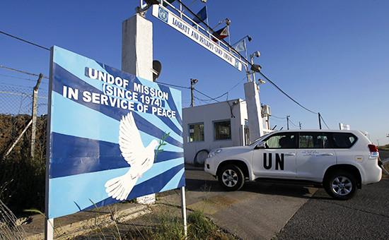 База миротворческих сил ООН на границе Израиля и Сирии. Архивное фото.