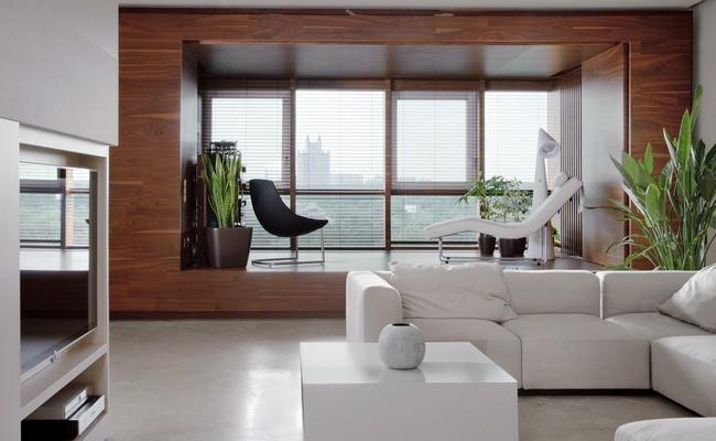 Музыкальная ниша, обустроенная вгостиной московской квартиры