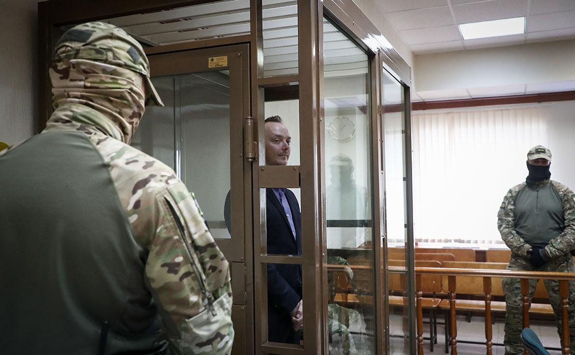 Иван Сафронов во время рассмотрения апелляционной жалобыв Мосгорсуде