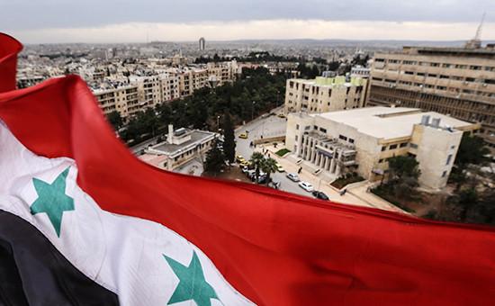 Вид нагород Алеппо, Сирия. Март 2016 года