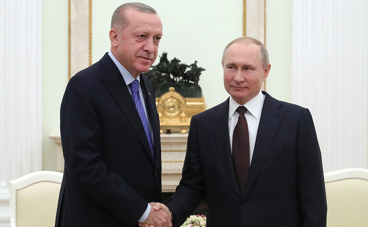 Реджеп Тайип Эрдоган иВладимир Путин