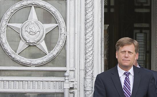 Экс-посол США вРоссии Майкл Макфол. Москва, 2014 год