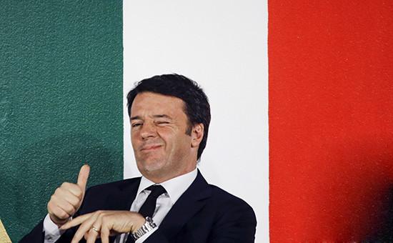 Глава итальянского правительства Маттео Ренци
