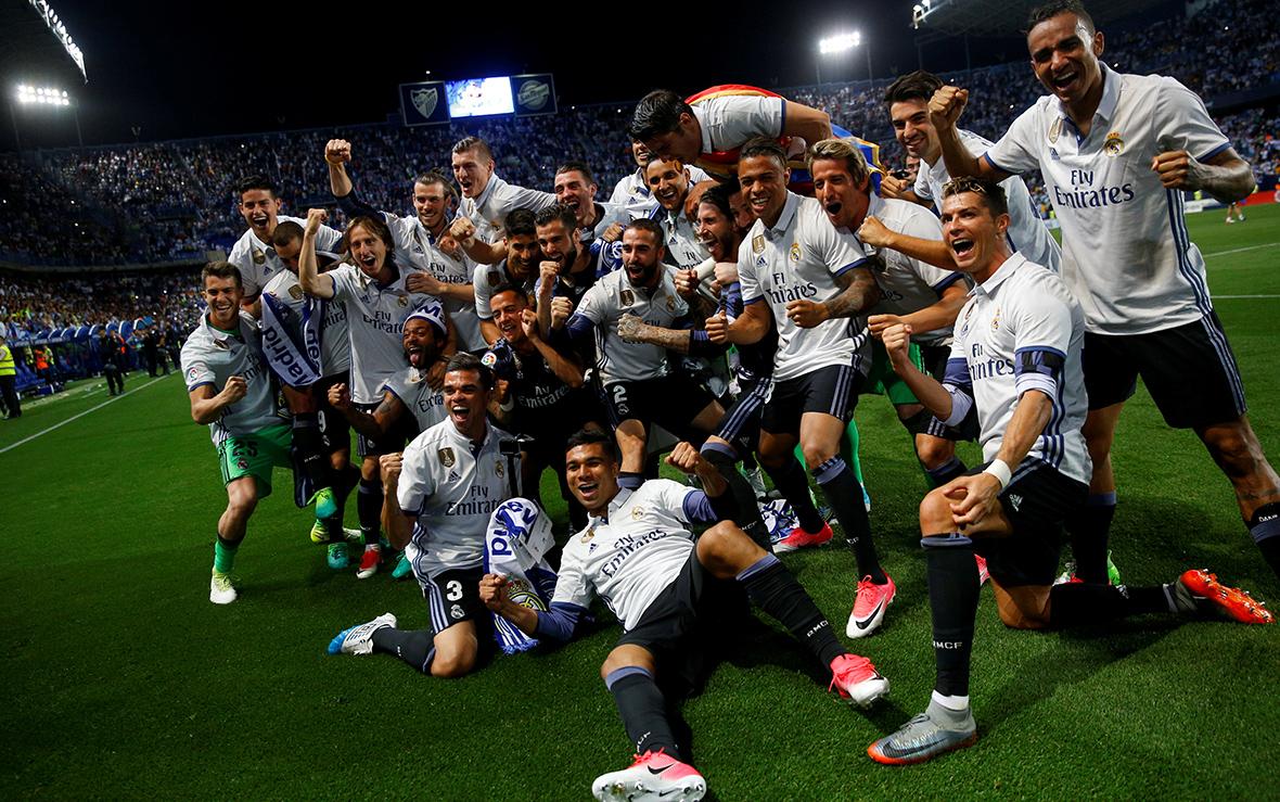 Победитель чемпионата Испании - команда«Реал Мадрид». 21 мая 2017 года